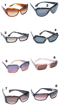 c03a3ac180b Hip to Be Square. Ditch those aviators—chic sunglasses are angular and  plastic this spring.