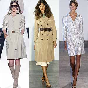 Trench Trend in New York Spring 05 Fashion