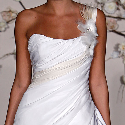 sexy one shoulder wedding dress