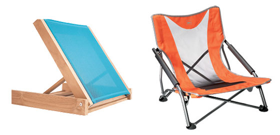 From Left The Sand Lounger And Stowaway Low Chair