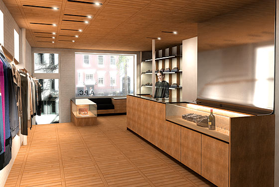 a p c is opening a new shop in the west village new. Black Bedroom Furniture Sets. Home Design Ideas