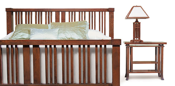 The Ingalls Bedroom Set From The Frank Lloyd Wright Collection At Copeland  Furniture.