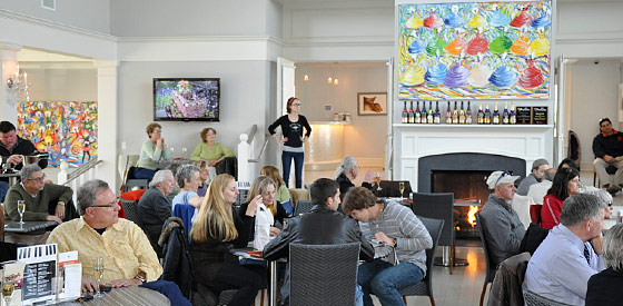 The Tasting Room At Sparkling Pointe Winery Where Bossa Nova Fridays Are Held Featuring Live Music By Ludmilla Brazil