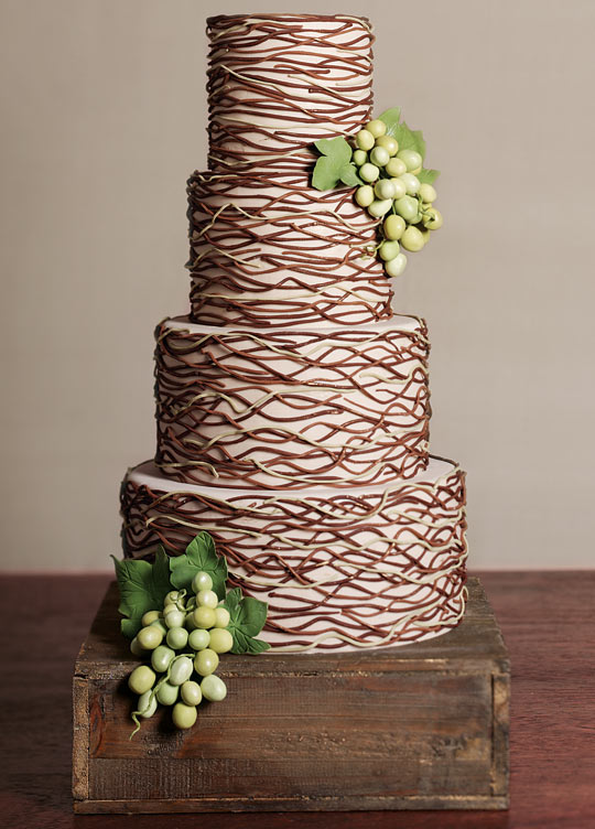 Chocolate Buttercream Wedding Cake Ideas