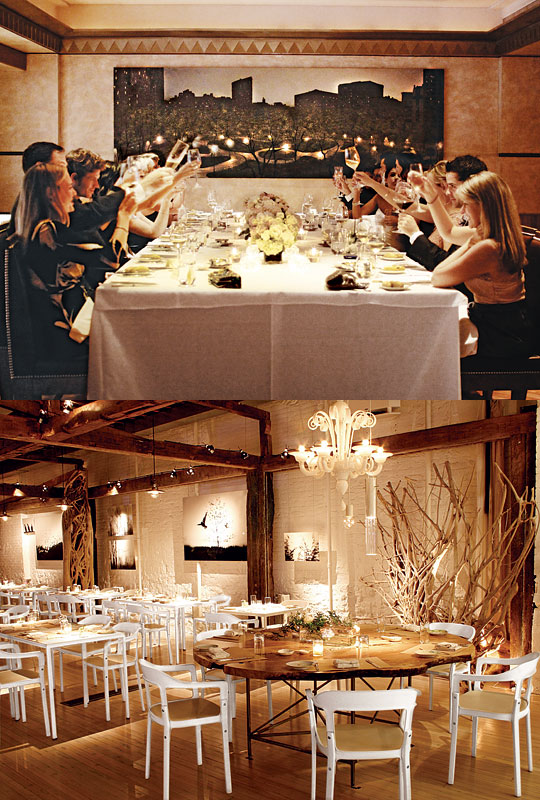 Old: Eleven Madison Park (top); New: ABC Kitchen (bottom)