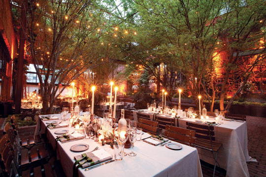 New york wedding guide the reception indoor outdoor for Small wedding venues ny