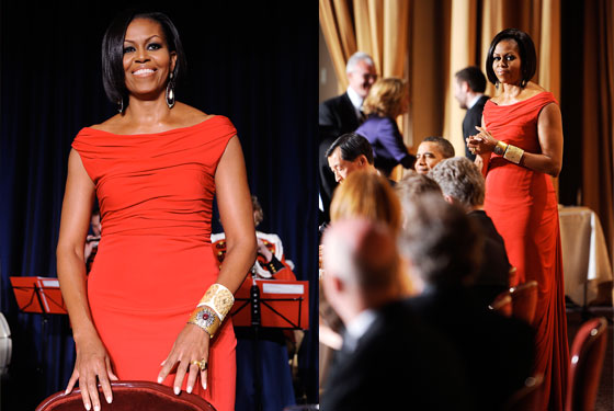 Michelle Obama Wears Prabal Gurung and Big, Expensive Jewelry to the White House Correspondents Dinner