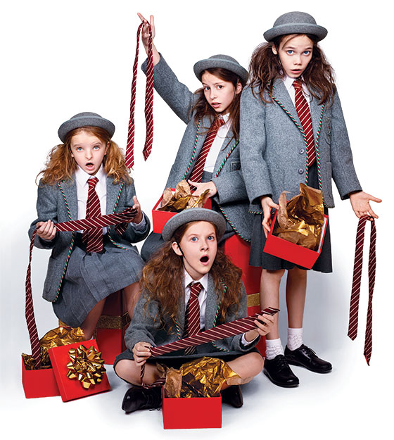 Clockwise From Left Broadways Four Matildas Milly Shapiro Bailey Ryon Oona Laurence And Sophia Gennusa