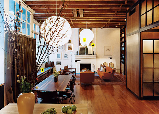 Great room a tribeca cold storage warehouse turned - Warehouse turned into home ...