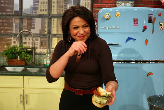 Rachael Ray on the set of the <em>Rachael Ray Show</em>.