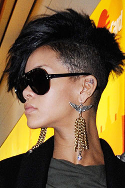 Rihanna Shaved Part of Her Head -- The Cut