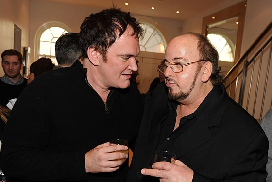 Tarantino and Toback at the Black Tieless Event.