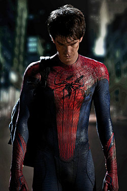 check out andrew garfield in his spiderman suit