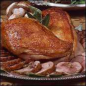 Breast Of Four Corners Farm S Turkey Cuit Sous Vide And Roasted Leg En Ballotine By Thomas Keller Of Per Se