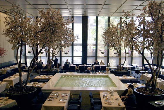The Four Seasons Restaurant The Grill Room New York Ny