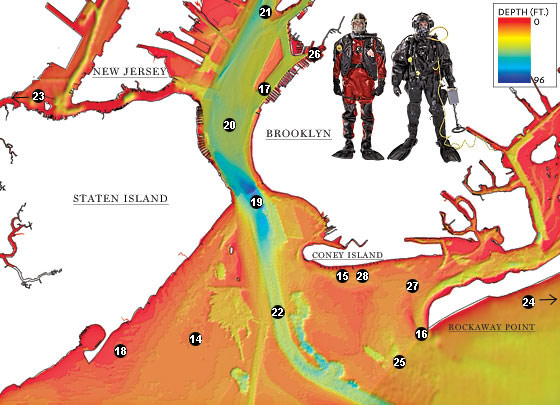 Map Of New York Harbour.Uncovering The Secrets Beneath The Surface Of The New York Harbor