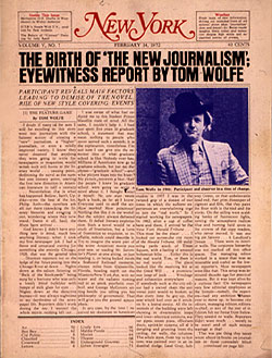 Tom Wolfe Gives an Eyewitness Report of the Birth of 'The