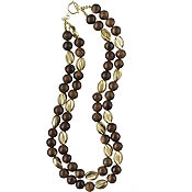 Meryl Waitz Mali Wood Necklace