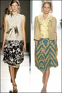 Bold Prints Trend in New York Spring 05 Fashion