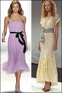 Cinched Waist Trend in New York Spring 05 Fashion