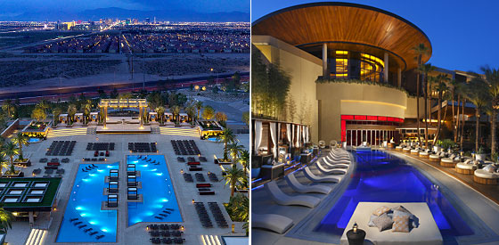 The Vegas Skyline At M Resort S Villaggio Del Sole Complex Left Or Sunbathe European Style Cherry Nightclub Pool In Green Valley